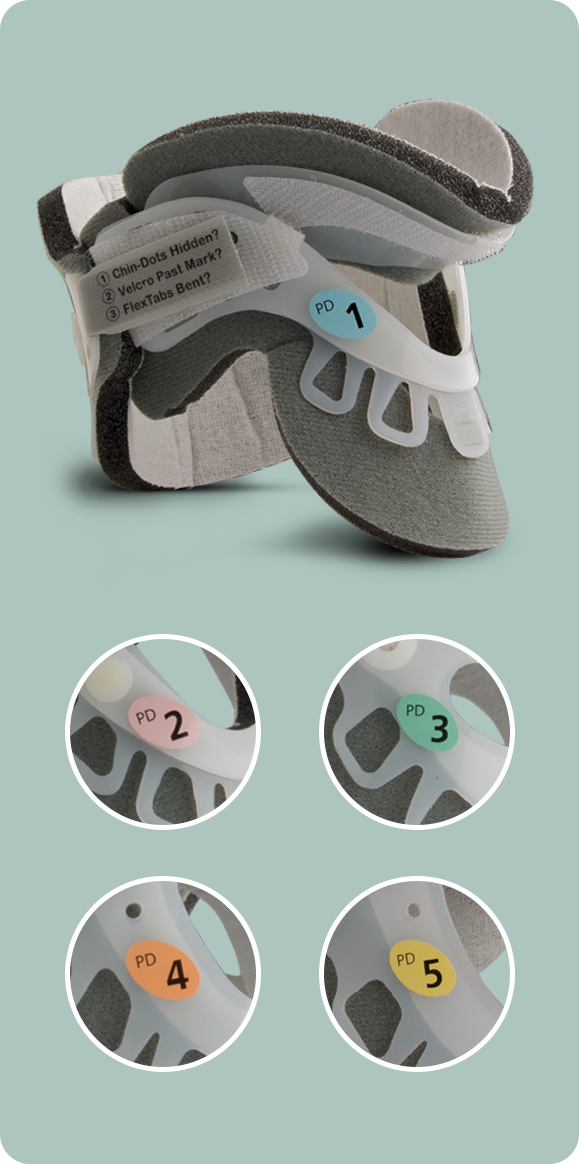 Five Sizes to Custom Fit Infants and Pediatric Patients